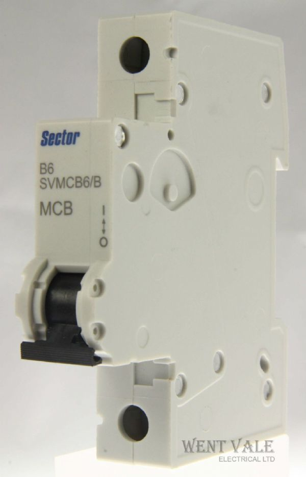 Sector SVMCB06/B - 6a Type B Single Pole MCB Latest Style New